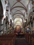 The inside of the Basilica is a delight of light