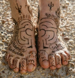 Clare Wilson's feet of South Africa. I included this photo by her son in the Pecha Kucha about labyrinths.