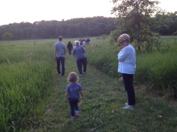 Firefly Labyrinth walk from a toddler to a kindly grandmother.