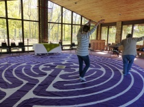 Dancing to the rhythms of the labyrinth.