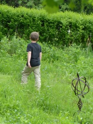 Kids run and then walk sedately.